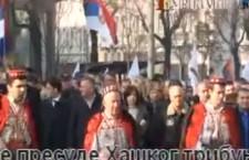 Протест удружења Срба из Крајине (видео)