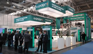 Kaspersky technology company at the CeBit trade fair in Hanover