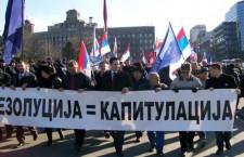 Радикали протествовали против резолуције упркос забрани скупа!