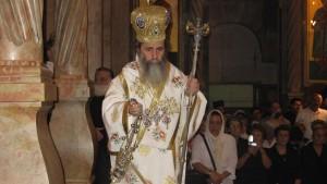 Патријарх Теофил први пут примио жену бискупа