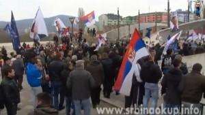 Обележавање годишњице бомбардовања (НАТО злочина) над Србијом у Косовској Митровици (видео)