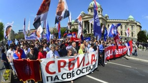 Протест испред скупштине и обраћање посланика Др Марка Јакшића (видео)