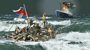 """Власт преко Брисела иде """"у четнике '45"""", а народ укрцава на ЕУ-Титаник"""