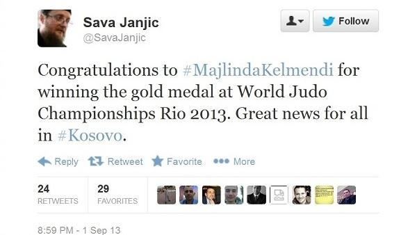 Сава Јањић честитао Мејлинди Кељменди на освојеној медаљи