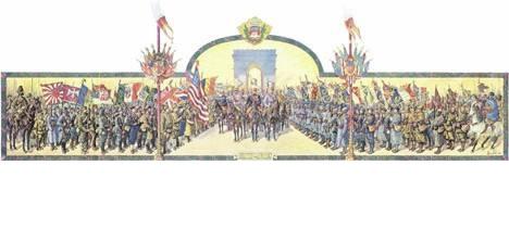 СРБИ НА ВЕЛИКОЈ ПАРАДИ ПОБЕДНИКА У ПАРИЗУ 14. ЈУЛА 1919.