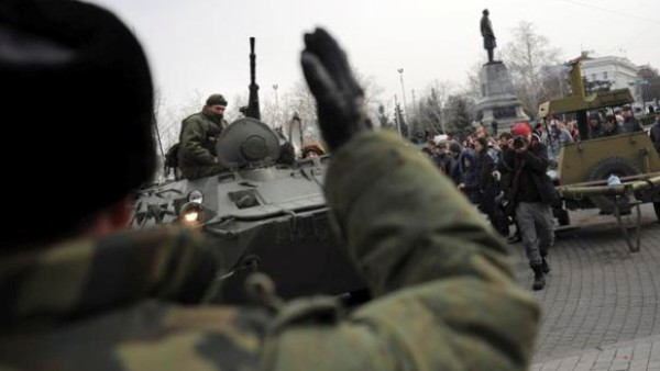 Руска оклопна возила у Севастопољу