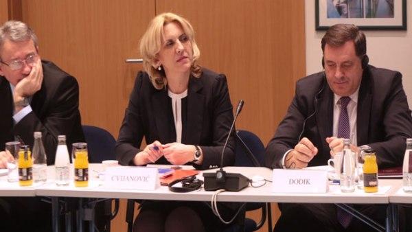 Додик напустио састанак лидера с Филеом у Сарајеву