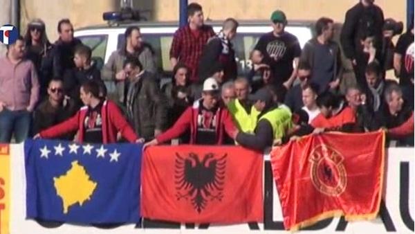 После убиства Далибора Лукића сукоби на утакмици Срба и Шиптара (ВИДЕО)