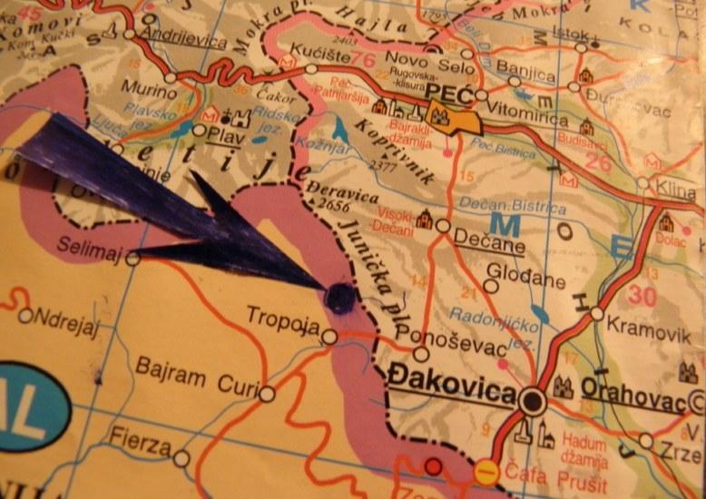 Кошаре на мапи