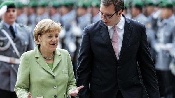 """Александар Вучић: """"Jа заиста највише поштујем Ангелу Меркел и то уопште не кријем"""""""