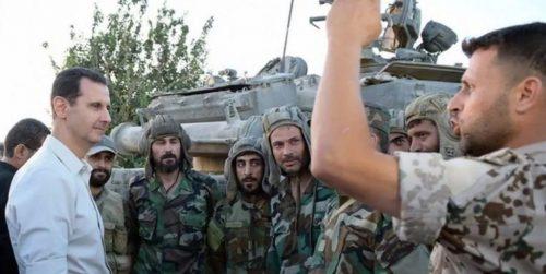Асад на првој линији фронта