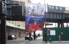 Усред Њујорка освануо банер: Замислите свет без Русије
