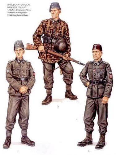Handžar divizija uniforme ilustracija