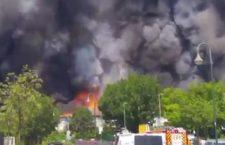 Избеглице до темеља спалиле камп у Диселдорфу (видео)
