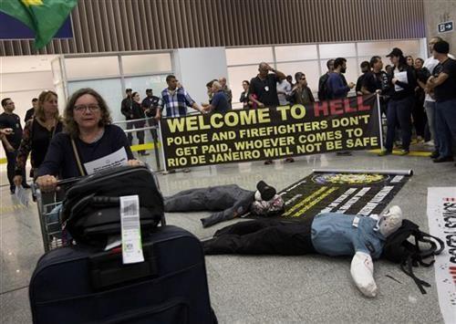 Рио полицијски протест - Добродошли у пакао