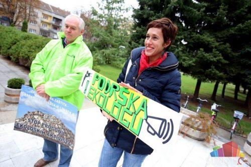 Протест против прогона еколошких активиста