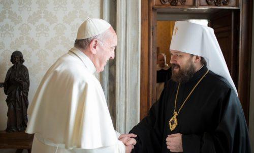 Да ли се припрема нови сусрет папе и руског патријарха? – митрополит Иларион поново у Ватикану