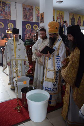 Богојављење у манастиру Преподобног Јустина Ћелијског у Барајеву