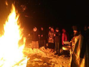 Прослава Божића у катакомбама епархије у егзилу
