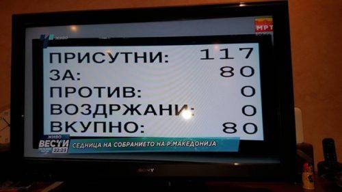 Македонија, Собрање потврдило уставне промене