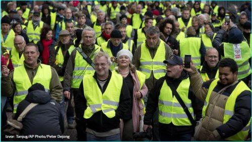 Шири се талас антивладиних протеста – жути прслуци и у Белгији и Холандији