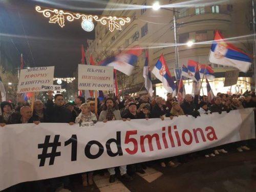 """Још 144 факултетска професора и сарадника потписала проглас подршке протестима """"Један од пет милиона"""""""