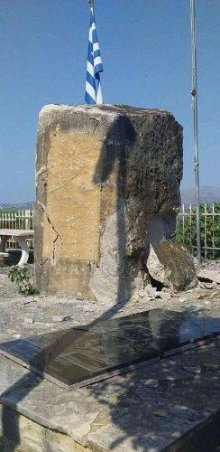 Албанци дигли у ваздух споменик посвећен грчком борцу, Атина ужаснута