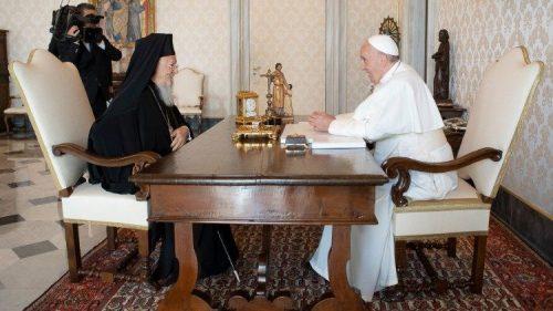 Патријарх Вартоломеј продубљује односе са папом Франциском и – украјинским унијатима