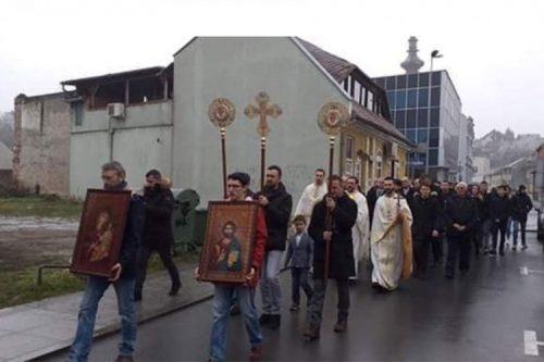 Прва српска православна литија у Вуковару након три деценије
