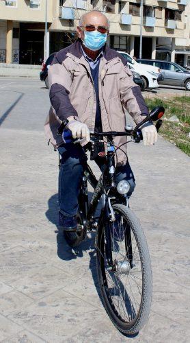 Biciklista je izbiljno shavtio pandemiju