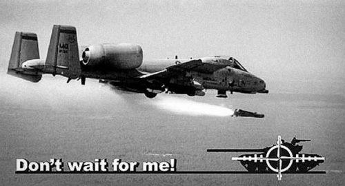''Не чекајте ме'' -  Део пропагадног летка којим је НАТО током агресија покушавао да заплаши српску војску