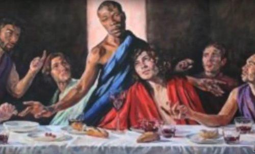 Шта је следеће? Црква окачила икону Последње вечере са ЈАМАЈЧАНСКИМ ИСУСОМ