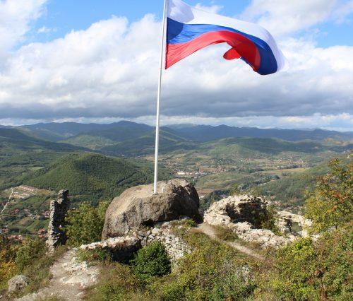 Руска застава на тврђави  Звечан