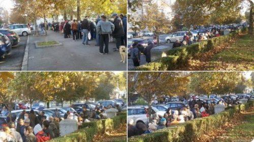 ПРАВА ИСТИНА О СТАЊУ У СРБИЈИ: ВЕЛИКЕ ГУЖВЕ ЗА БЕСПЛАТНУ ХРАНУ У БЕОГРАДУ