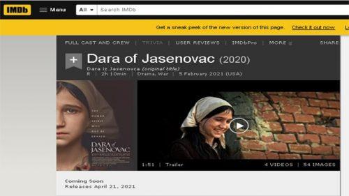 """Најпознатији филмски сајт укинуо оцењивање филма """"Дара из Јасеновца"""""""