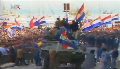 Мирослав Здравковић: Ђурђевдан 1991. – демонстрације у Сплиту
