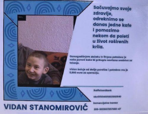 Дечаку Видану из Штрпца потребно 5.000 евра за почетак лечења
