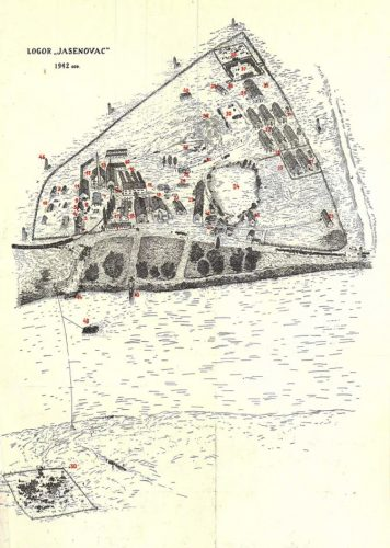 """Велика мапа """"Јасеновачки логор 1942"""""""