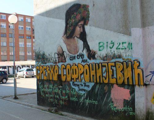 Графит  опомена Приштини за насиље